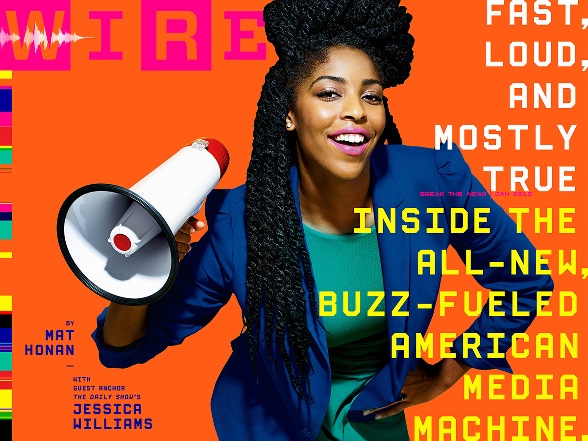 Wired magazine cover with Jessica Williams