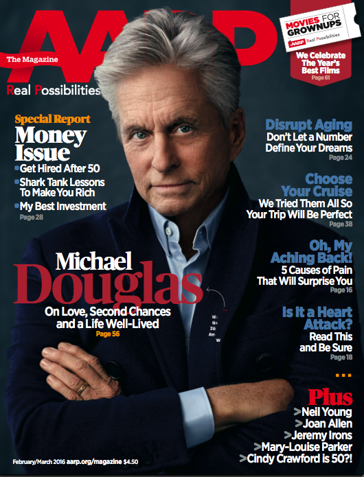 michael douglas aarp cover